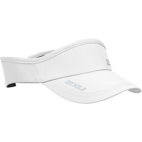 2XU Run Visiera, white/white